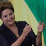 Trotz Streiks: Brasiliens Präsidentin erwartet WM-Fest (Foto)