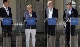 Merkel warnt vor Drohungen in Juncker-Streit (Foto)