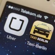 Taxifahrer protestieren europaweit gegen Internet-Fahrdienste (Foto)