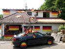 Deutschland im schwarz-rot-goldenen Fußball-Fieber: Für Fußball-Muffel ist das ein Graus. (Foto)