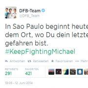 DFB-Team twittert rührende Schumi-Nachricht (Foto)