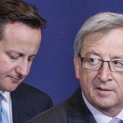 Merkel gegen Cameron: Mit Juncker-Vorschlag keine Verträge verletzt (Foto)