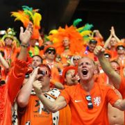 Oranje-Fans feiern Revanche gegen Spanien ausgiebig (Foto)