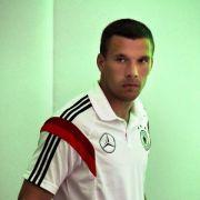 Podolski grüßt «guten Freund» Schumacher und Familie (Foto)