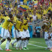 Auch Shakira jubelt: Kolumbien feiert höchsten WM-Sieg (Foto)