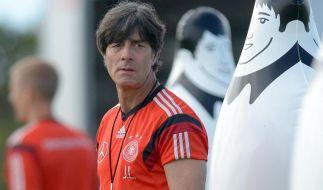 Bundestrainer Joachim Löw sieht sein Team bereit für das Spiel gegen Portugal. (Foto)
