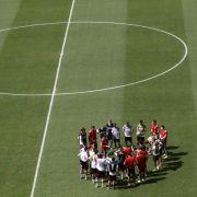 DFB-Team stärkt sich für Portugal - Nudeln am Morgen (Foto)