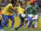 Heute spielt Gastgeber Brasilien gegen Mexiko bei der Fußball-WM 2014. (Foto)