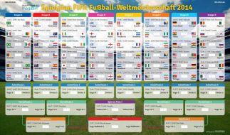 Der WM-Spielplan (Foto)