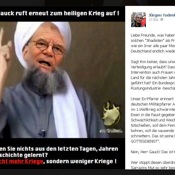 Hier wird Joachim Gauck zum Terroristen (Foto)