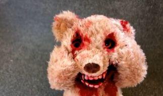 Bei diesem Teddy wird einem Angst und Bange. (Foto)
