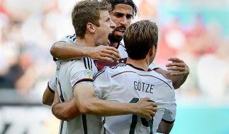 Weltmeister-Quote 5,5: Machen Thomas Müller (links) und Co. die Sportwetten-Fans reich? (Foto)