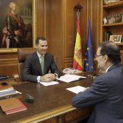 Spaniens König Felipe nimmt Arbeit auf (Foto)