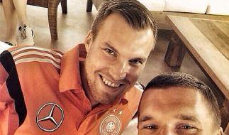 Natürlich Kumpels: Kevin Großkreutz und Lukas Podolski. (Foto)