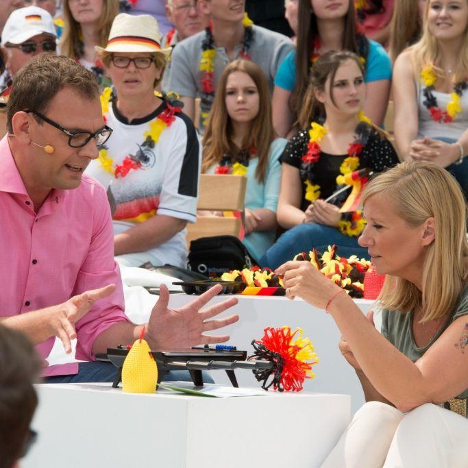 Deutschland vs. Holland reloaded in Kiwis Fernsehgarten (Foto)