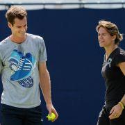 Trainerin undSchützling:Murray und Mauresmo im Fokus (Foto)