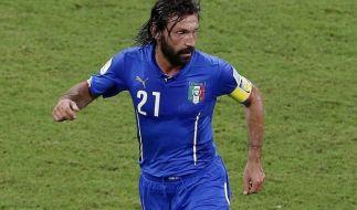 Geniale No-Look-Pässe: Italiens Stratege Andrea Pirlo. (Foto)