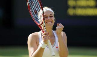 Sabine Lisicki schafft als erste Deutsche bei Wimbledon 2014 den Einzug in Runde 3. (Foto)