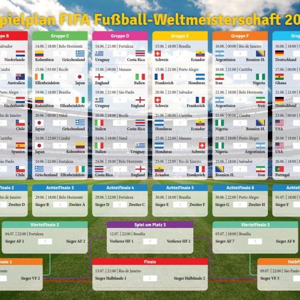 Alle Infos zu den Achtelfinals der Fußball-WM 2014 (Foto)