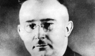 SS-Führer Heinrich Himmler in seiner Uniform mit Kragenspiegel und Blutorden. (Foto)