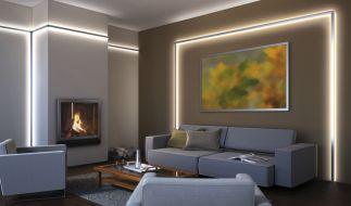 LED-Lichtstreifen bringen Räume förmlich zum Leuchten. (Foto)