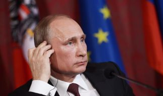 Wladimir Putin bei einer Pressekonferenz am 24. Juni in Wien. (Foto)