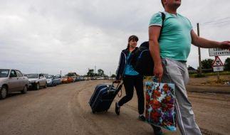 UN: Mehr als 160 000 Vertriebene in der Ukraine (Foto)