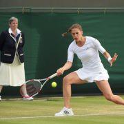Nach Regen in Wimbledon:Aus für Petkovic gegen Bouchard (Foto)