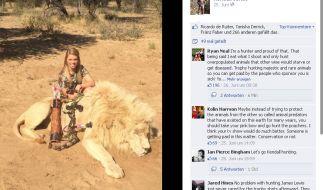 Dieser Löwe sei die Beute ihres Lebens gewesen, schreibt Kendall Jones auf Facebook. (Foto)