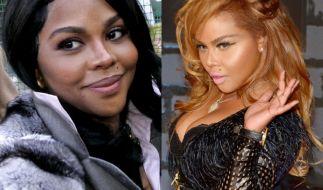 Bei Lil Kim ist der Unterschied kaum zu übersehen: Ihre Haut ist heute deutlich heller als früher. (Foto)