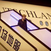 Merkel in China eingetroffen (Foto)