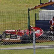 Räikkönen nach Horror-Crash «im wesentlichen okay» (Foto)