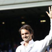 Glücklich trotz Niederlage:Federer will neuen Anlauf nehmen (Foto)
