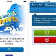 Im EU-Ausland Recht bekommen - App gegen Sprachlosigkeit (Foto)