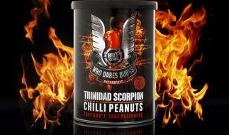 Trinidad Scorpion Chilli Peanuts (8,49 Euro). (Foto)