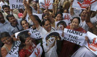 In Indien kommt es immer wieder zu Protesten gegen Vergewaltigungen - weil diese nicht bestraft oder wie im aktuellen Fall sogar angeordnet werden. (Foto)