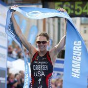 Amerikanerin Jorgensen gewinnt Triathlon in Hamburg (Foto)