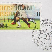Sonderbriefmarke zum WM-Titel für Deutschland (Foto)