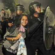 Enttäuschung, Feier und Randale bei Argentiniern (Foto)