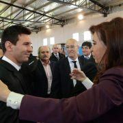Staatschefin empfängt Argentiniens Nationalmannschaft (Foto)
