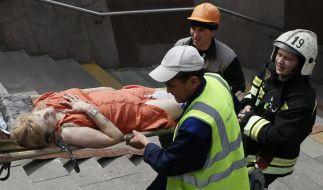 160 Menschen wurden verletzt, mindestens 16 Personen starben bei dem Zugunglück in Moskau. (Foto)