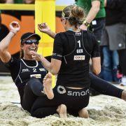Beachvolleyballerinnen Holtwick/Semmler starten souverän (Foto)