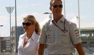 An der Rennstrecke oft gemeinsam unterwegs: Corinna und Michael Schumacher. (Foto)