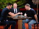 Bei diesem Spiel müssen Axel Stein und Michael Wendler Fingerspitzengefühl beweisen. (Foto)