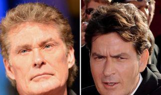 David Hasselhoff und Charlie Sheen haben schon des Öfteren mit Totalausfällen im Drogenrausch schockiert. (Foto)