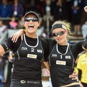 Beach-Duo Holtwick/Semmler im Viertelfinale (Foto)