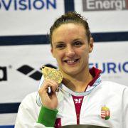 Ungarin Hosszú: bei EMzehn Einzelstrecken schwimmen (Foto)