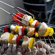 Für Gemüsespieße auf demGrill raffinierte Öle nehmen (Foto)