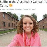 Fröhliches Selfie in Auschwitz - na und? (Foto)