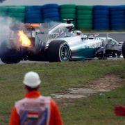Hamiltons Traum vom Sieg geht in Flammen auf (Foto)